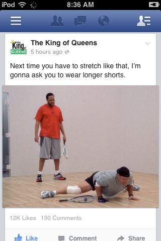 kevin james, king of queens deacon, king of queens stretch longer shorts, king of queens leah remini, funny king of queens quotes