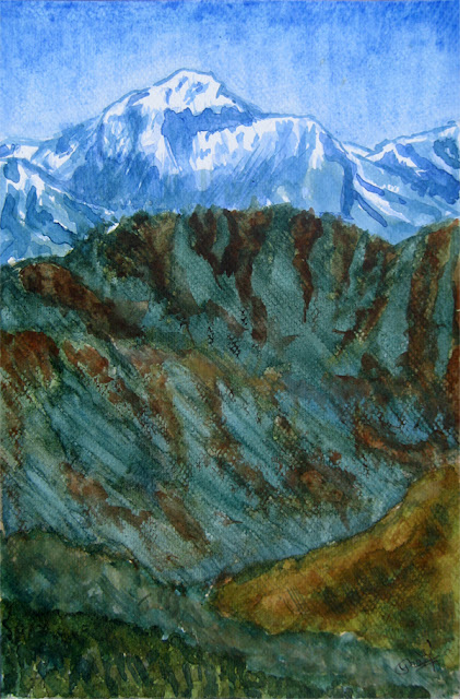 Painting of Mt. Dhaulagiri
