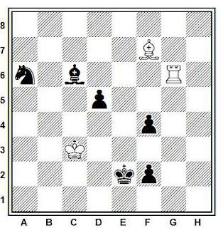 Estudio artistico de ajedrez de H. Kasparyan (W. z. Szachy, 1980)