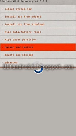 Cara Backup Stock/Custom ROM Dengan Clockworkmod (CWM)