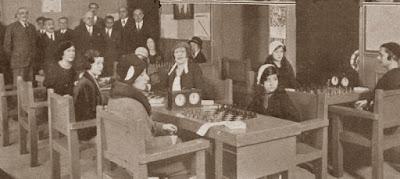 Jugadoras participantes en el I Torneo Femenino de Ajedrez