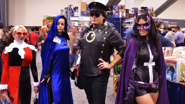 Harley Quinn, Blackhawk, The Huntress Birds of Prey Costume Team