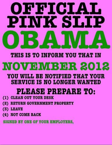 obama pink slip