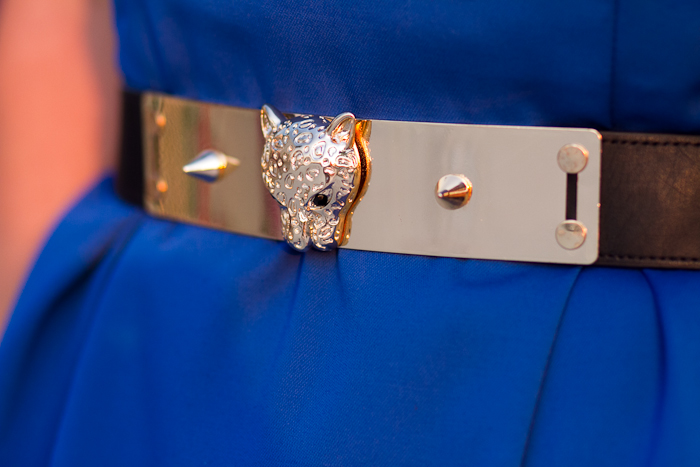 Cinturón Dorado Cabeza de Leopardo