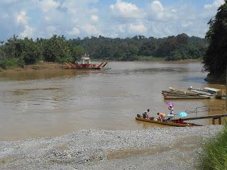 River Crossing In Sarawak