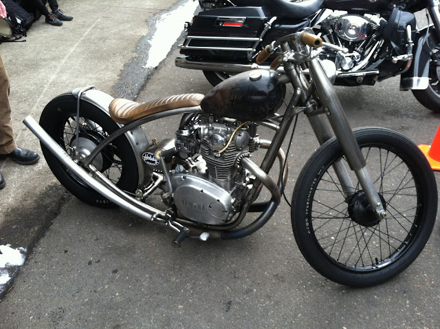 Custom Yamaha motorcycle