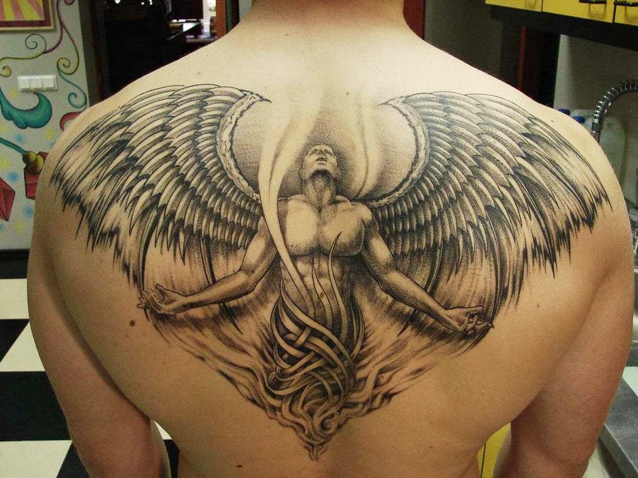 Guardian angel tattoos for Male tattoo ideas