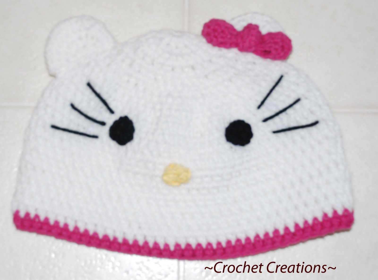 Free Crochet Pattern Hello Kitty Hat : Hello Kitty Crochet Hat Pattern Auto Design Tech