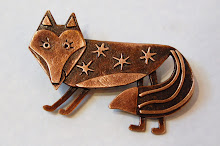 Foxy brooch