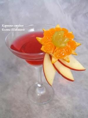 новогодний карвинг фруктов