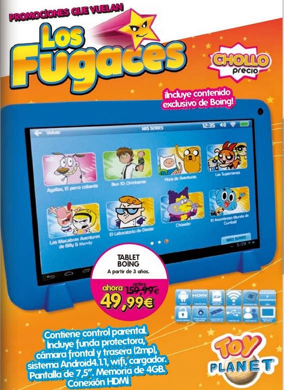 Chollo Precio Tablet Boing 49.99€ toy