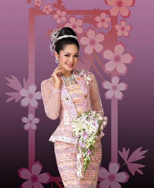 Photo Model: Cute Actress Moe Yu San in Burmese Bridal Dress