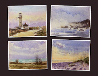 water colour study works of seascapes by Manju Panchal