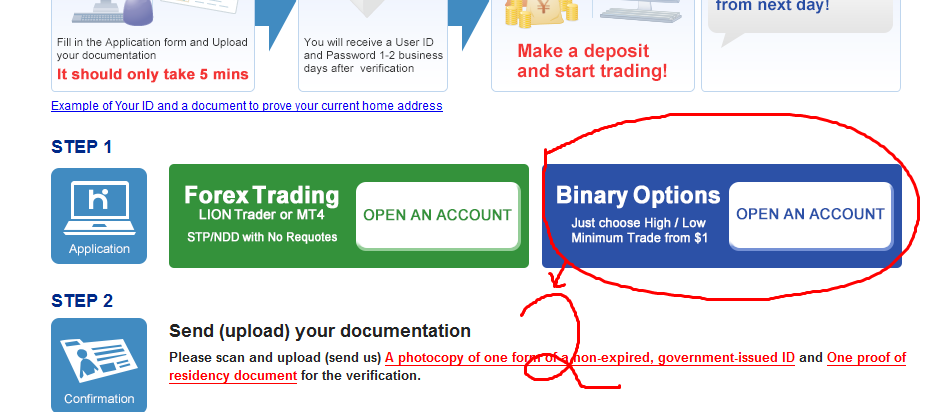 hitungan binary options