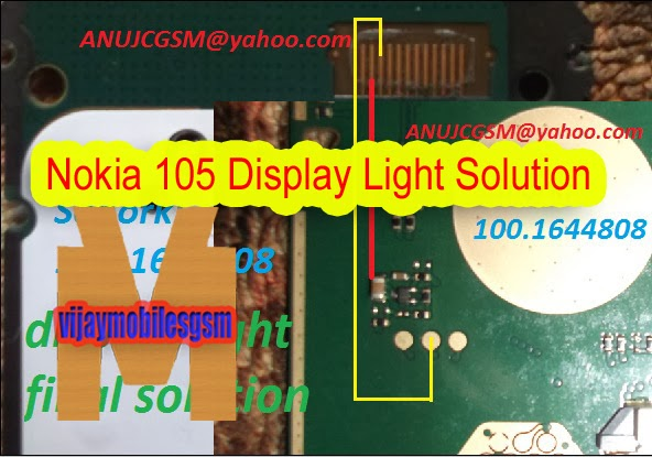 Nokia 105 display light final solution