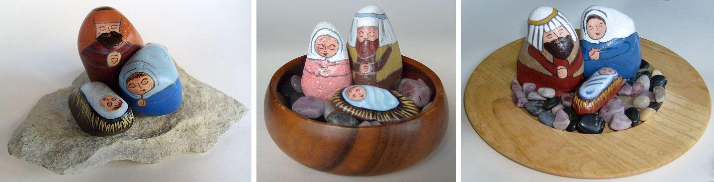 Painting Rock amp Stone Animals Nativity Sets More