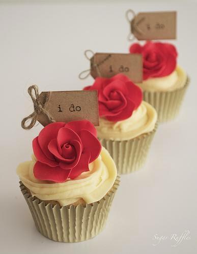 Cupcakes de Boda Rojos, parte 1