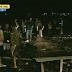 Estrutura de igreja cai e fere fiéis durante temporal em Santa Maria, RS