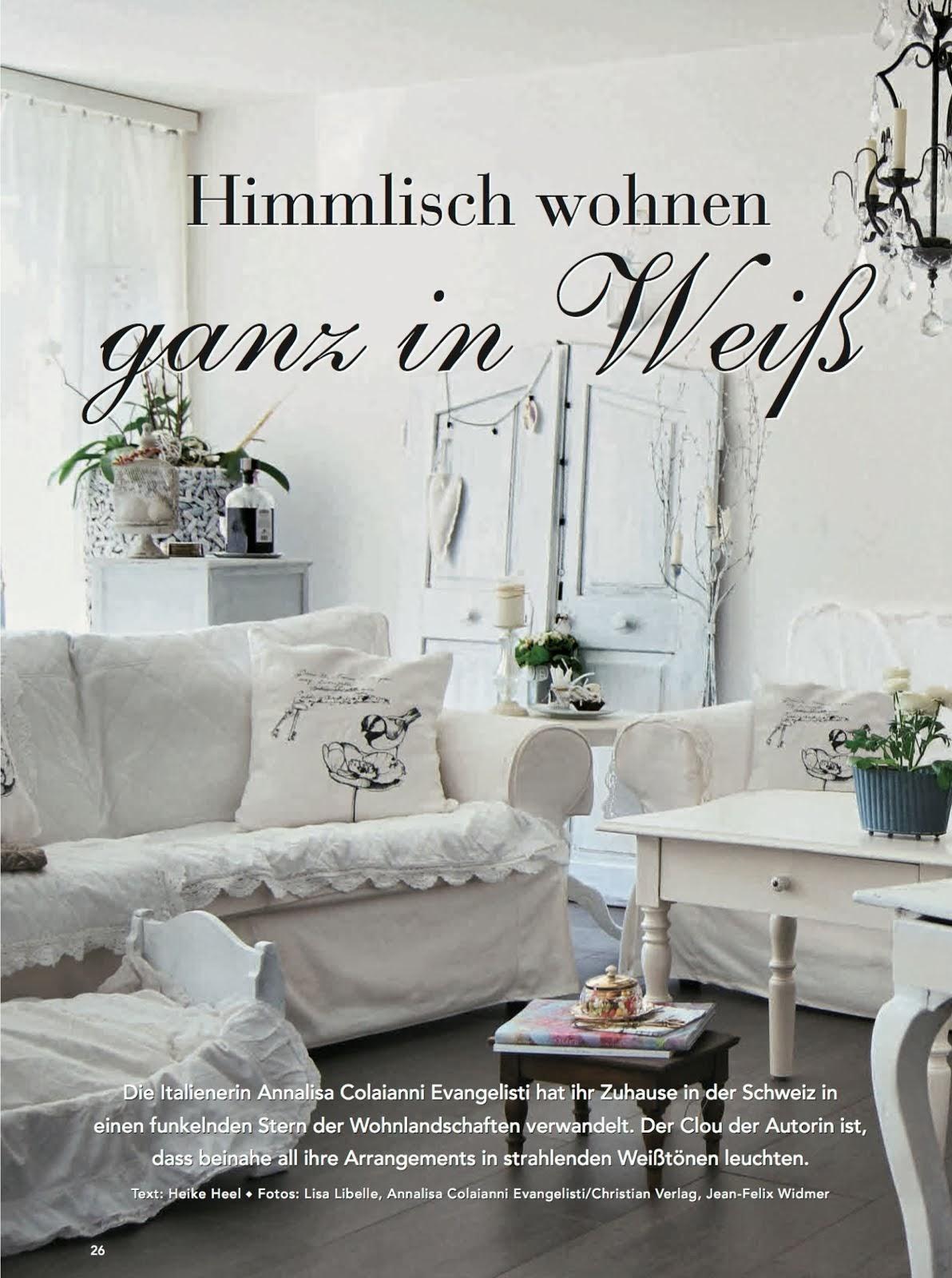 """Buchvorstellung & Interview. """"Himmlisch wohnen ganz in Weiss""""."""