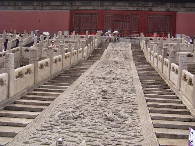 Forbidden City Beijing stairs