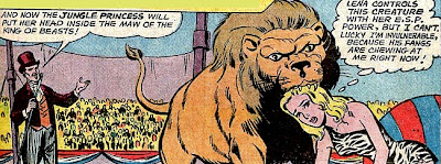 Superboy 100 page Super Spectactular DC-21, Supergirl, Lena Thorul, Jungle Princess, Supergirl gets her head chewed by a lion