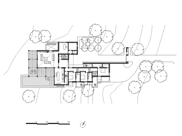 Ground floor plan of Simple modern home in Portugal