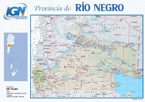 Mapa da província de Río Negro - Argentina