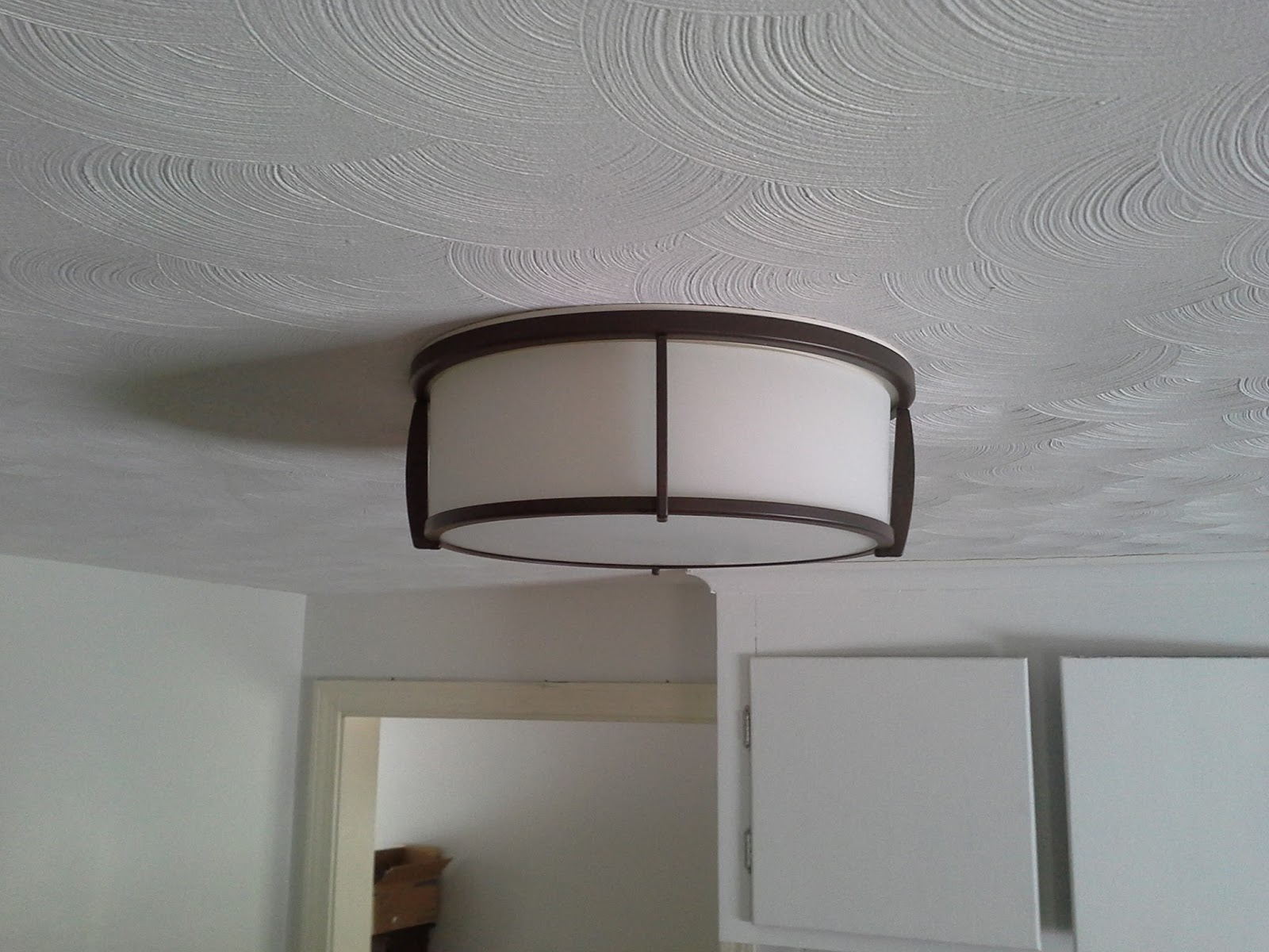 Lillys home designs lightening up the kitchen allen roth oil rubbed bronze flush mount light fixture lowes arubaitofo Choice Image
