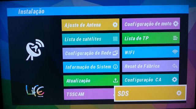 Configuración Menu SDS 3