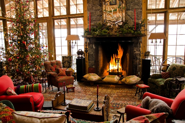 Wonderful Cabin Christmas Living Room 640 x 424 · 301 kB · jpeg