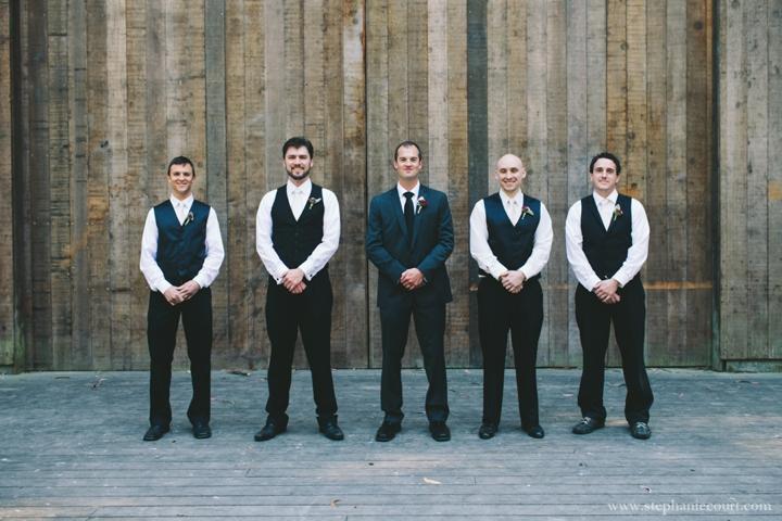 groom and groomsmen at stern grove wedding