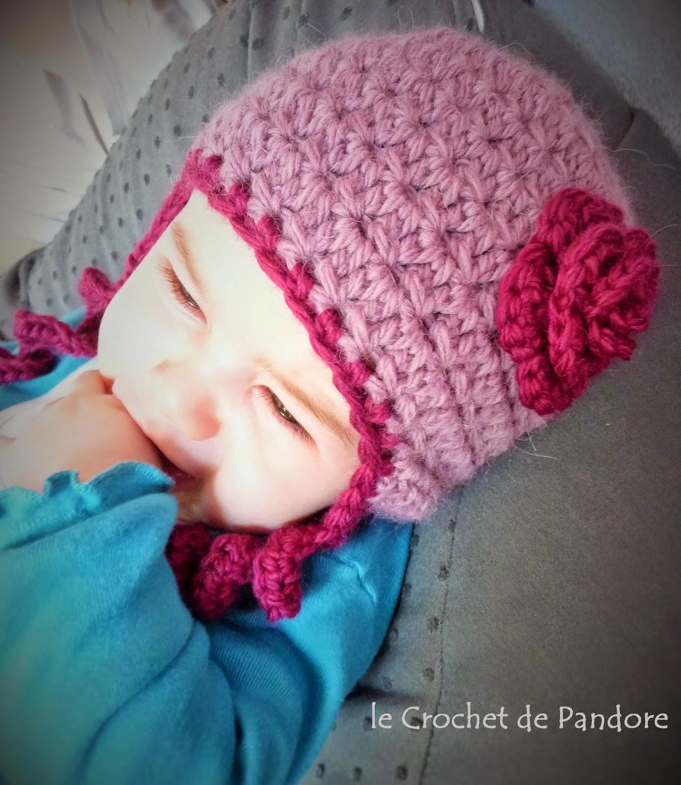 9a093819881 le Crochet de Pandore  Bonnet bébé Sweet Kiwi