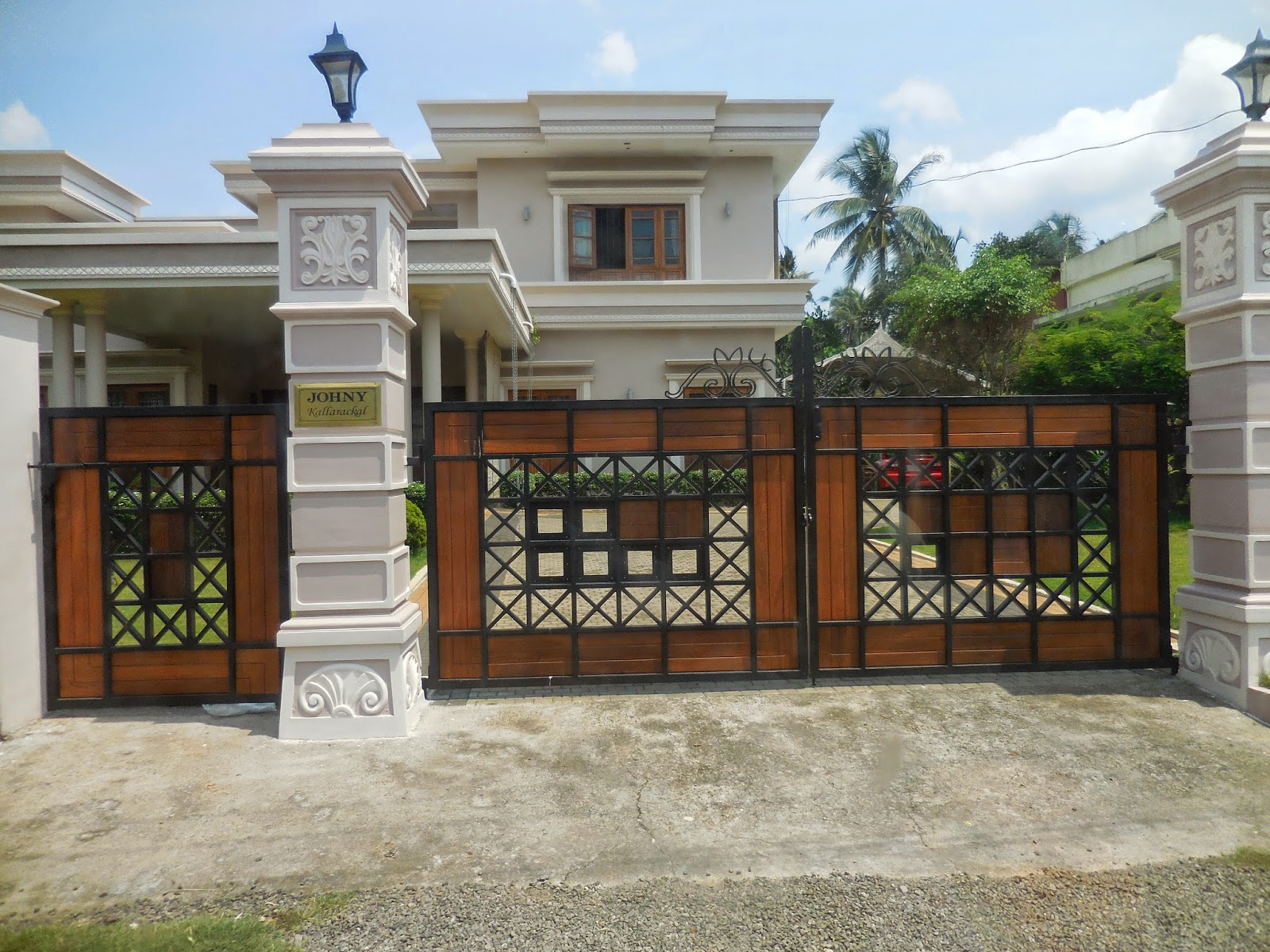 kerala gate designs a beautiful house gate from kerala kerala gate ...