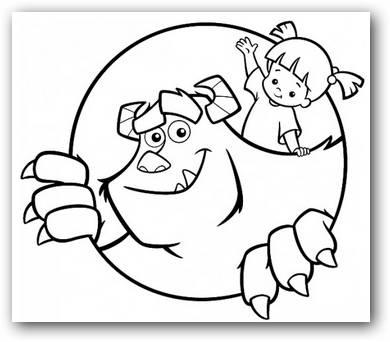 Monster Inc   Dibujos para Colorear