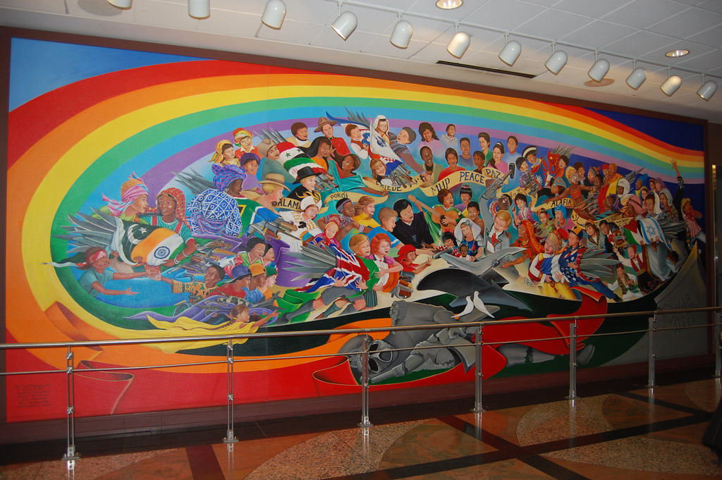Nicole 39 s life through a lens for Denver international airport mural