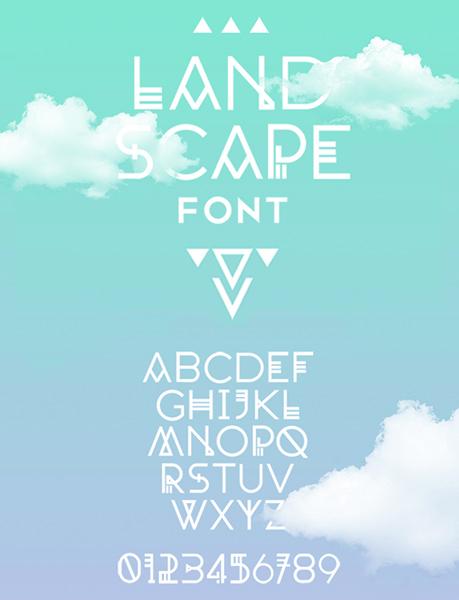 Landscaoe font