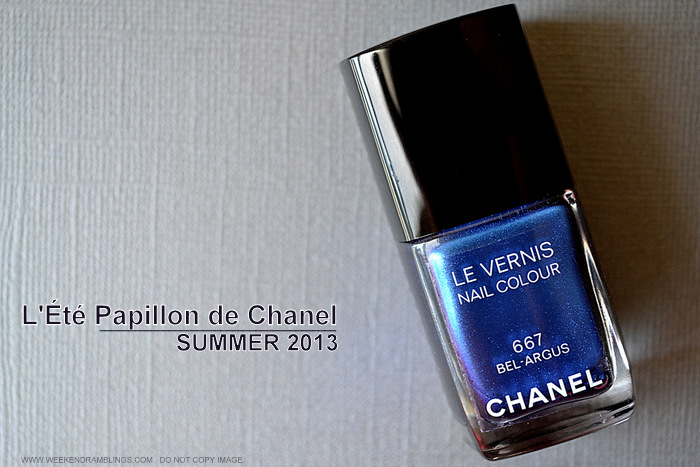 LEte Papillon de Chanel Makeup Collection Summer 2013 - Le Vernis Nail Polish Bel Argus 667 - Swatches Photos Review NOTD