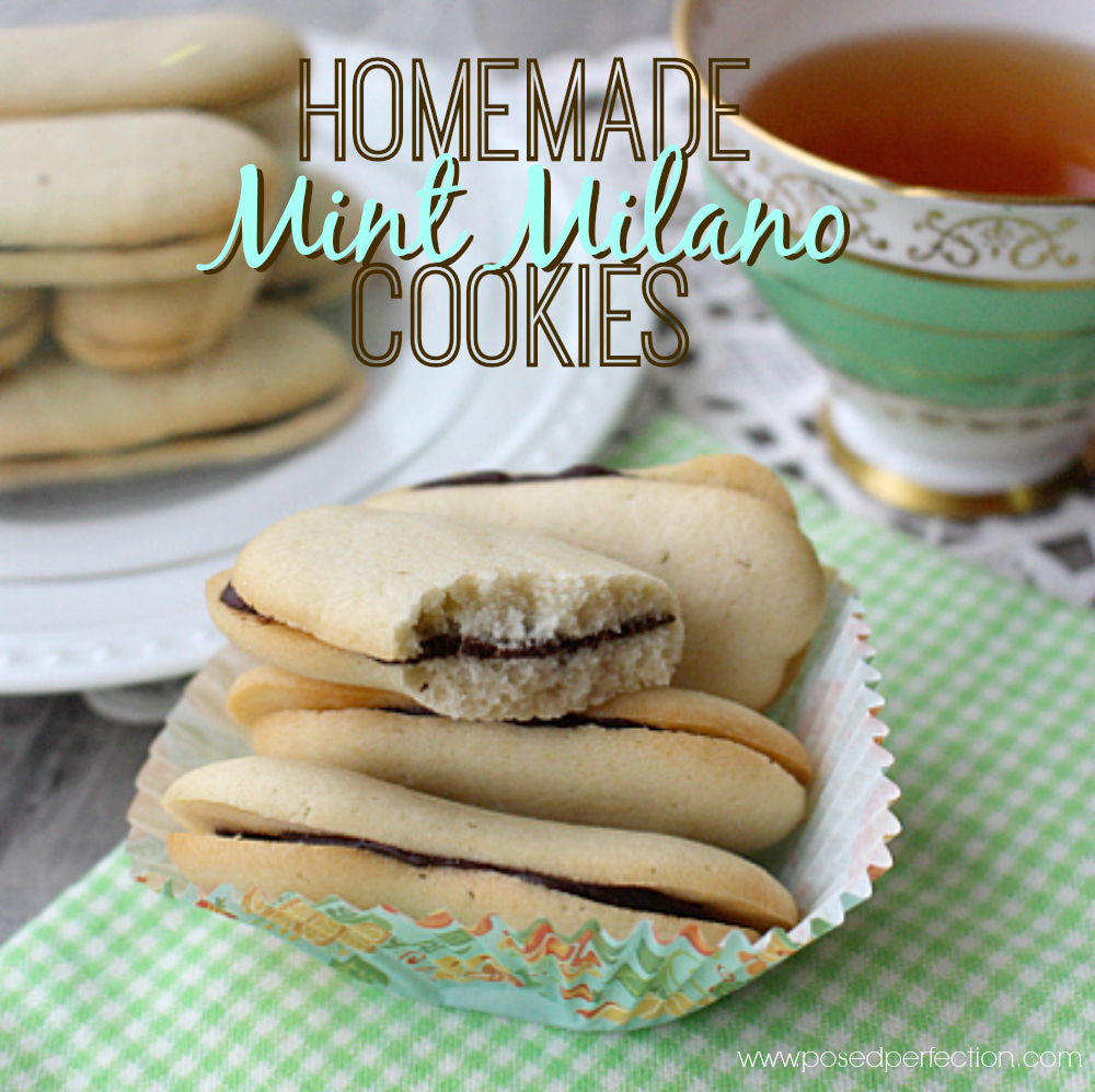 No need to buy the packaged cookies anymore! These Homemade Mint Milanos are the perfect substitute!