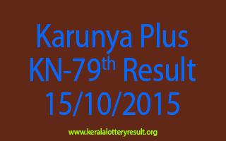 Karunya Plus KN 79 Lottery Result 15-10-2015