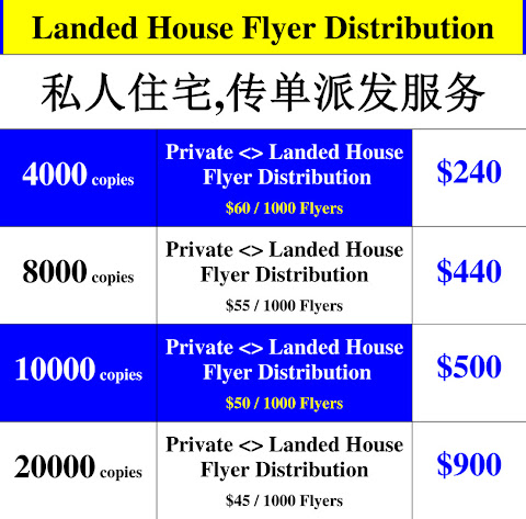 Landed House Flyer Distribution Singapore