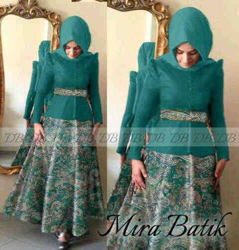 30 Model Baju Batik Muslim Terbaru 2017
