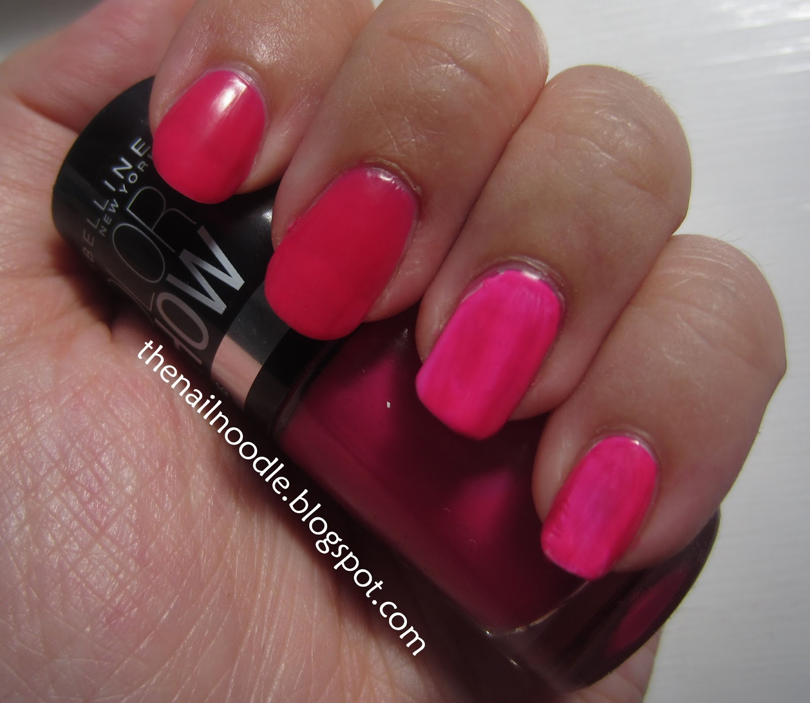 The Nail Noodle: Maybelline Color Show \'Electric Pink\' and \'Orange ...