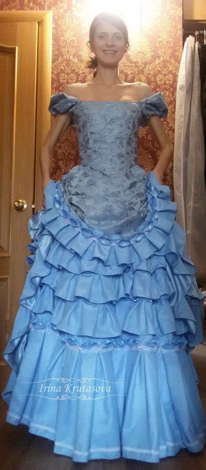 Как сшить платье с турнюром 848