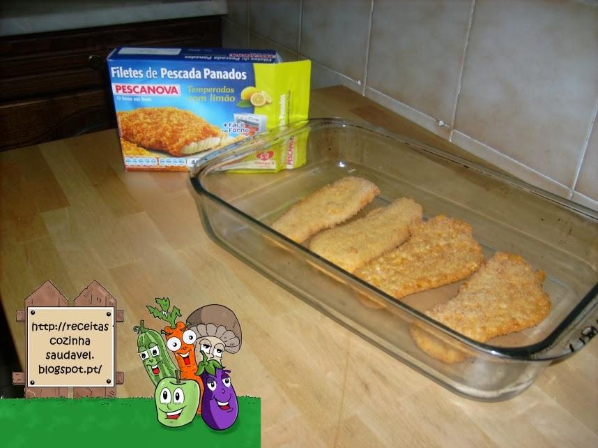 Filetes Panados com Legumes