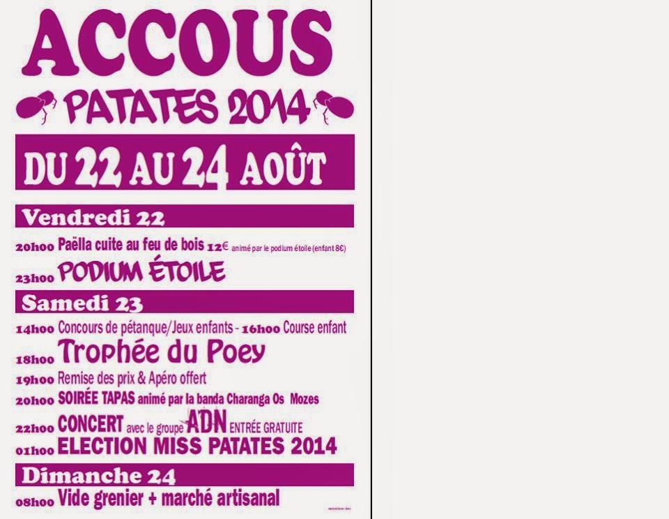 Fête des Patates 2014 d'Accous