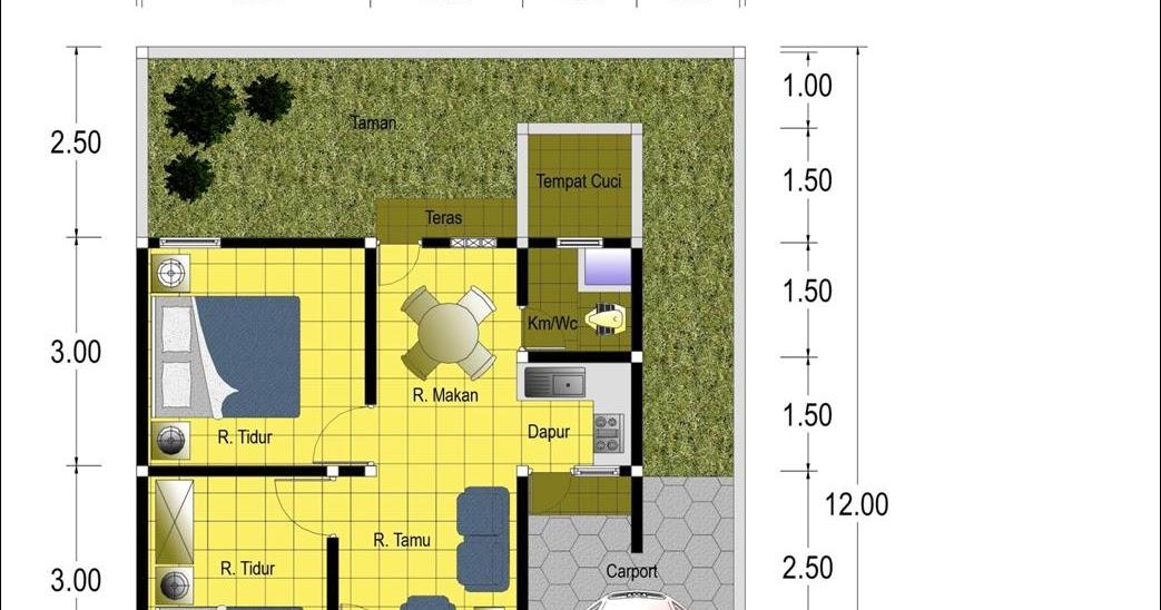 Gambar Denah Rumah Sederhana Beserta Ukurannya  Images Gambar Denah Rumah Type