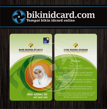 cetak id card pegawai bank