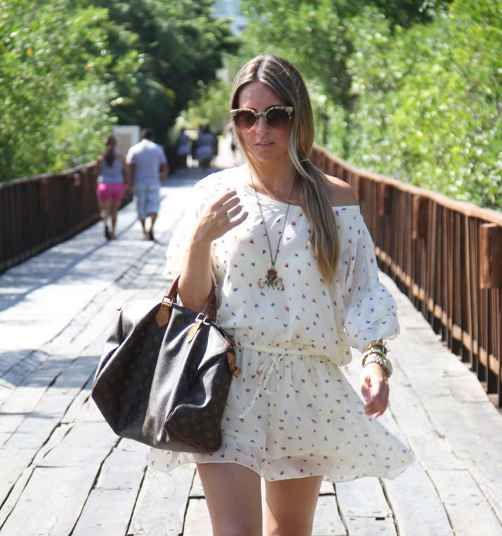 Mini dress and Louis Vuitton by fashion blogger
