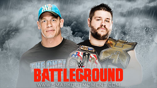 WWE Battleground 2015 Kevin Owens vs John Cena US Title Match