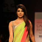 Priyanka Chopra Looks Gorgeous In Saree At The Lakme Fashion Week 2013